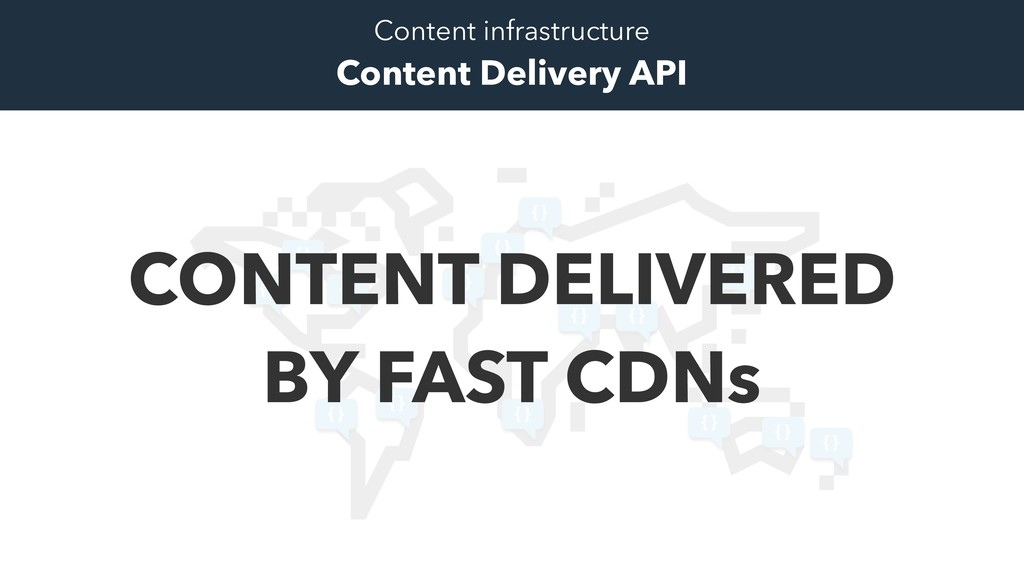 Content infrastructure Content Delivery API {} ...