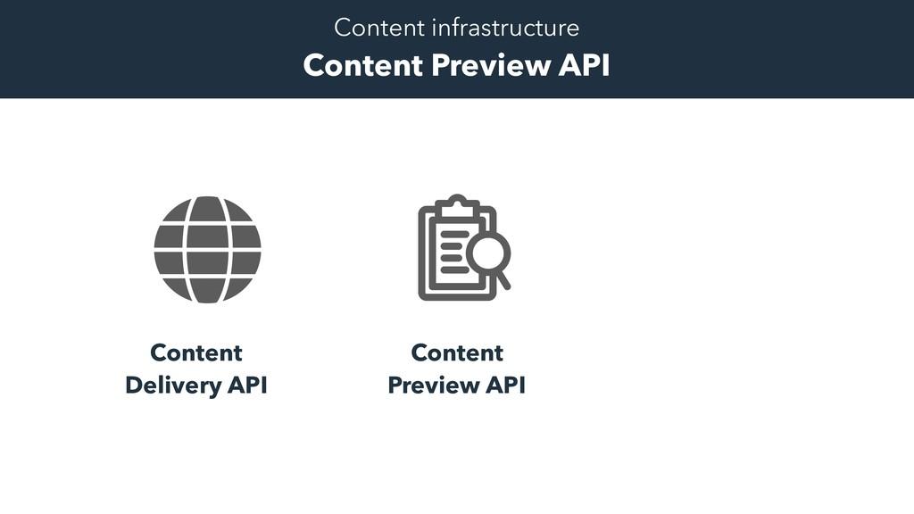 Content Delivery API Content Preview API Conten...