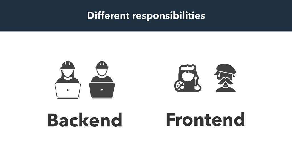 Frontend Backend Different responsibilities
