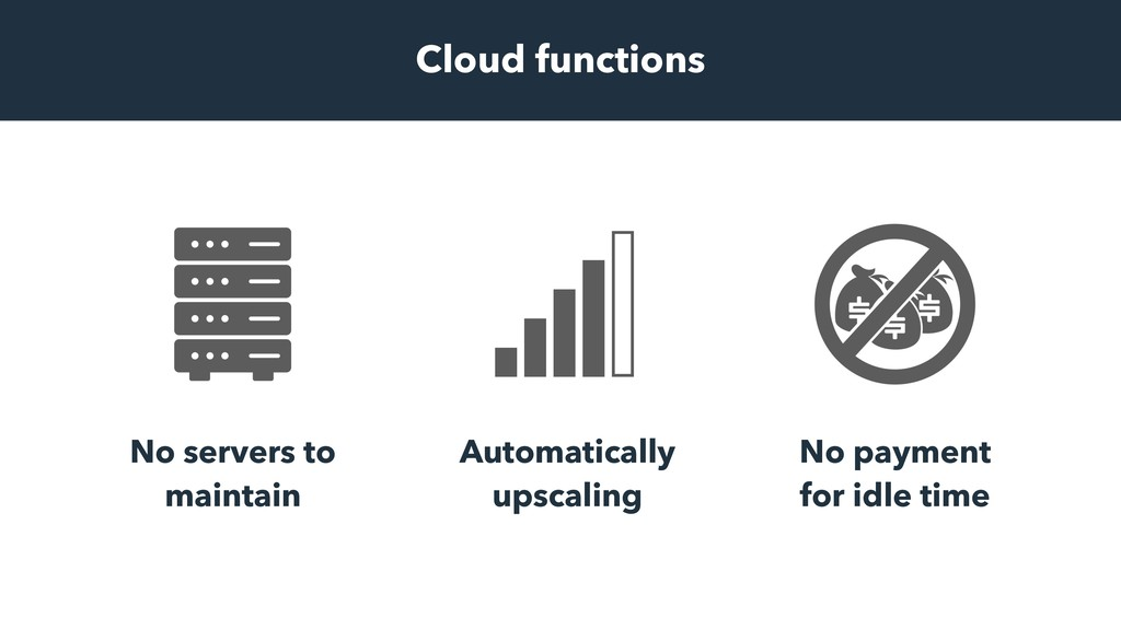 Cloud functions No servers to maintain Automati...