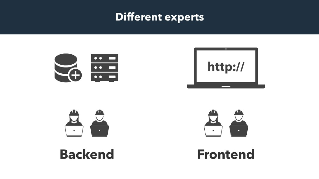 Frontend Backend Different experts