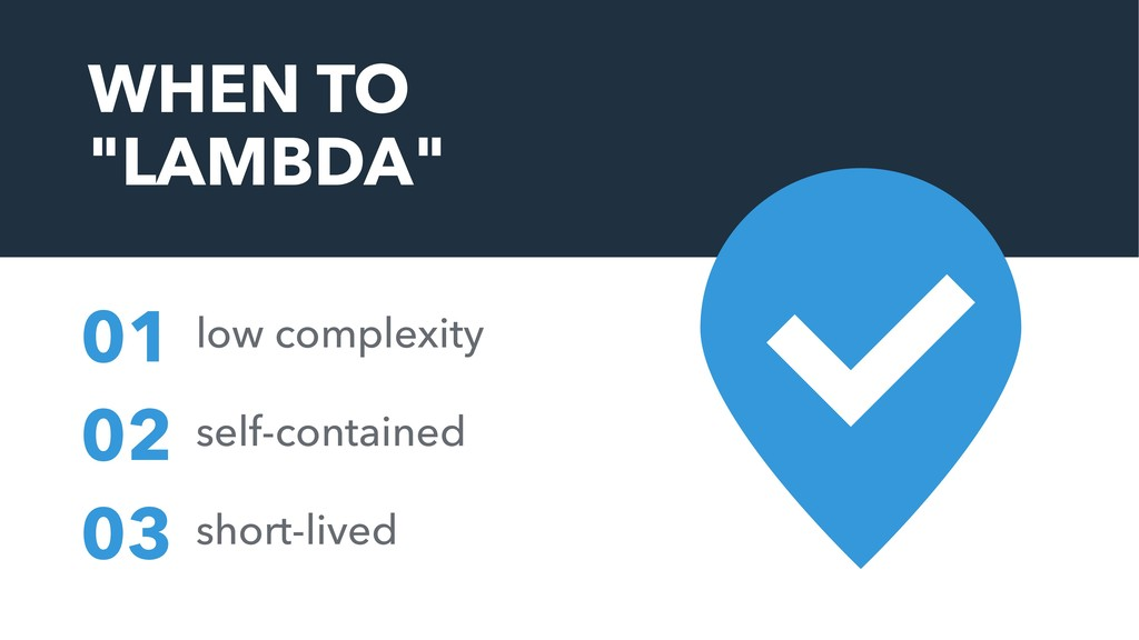 "WHEN TO ""LAMBDA"" low complexity 01 self-contain..."