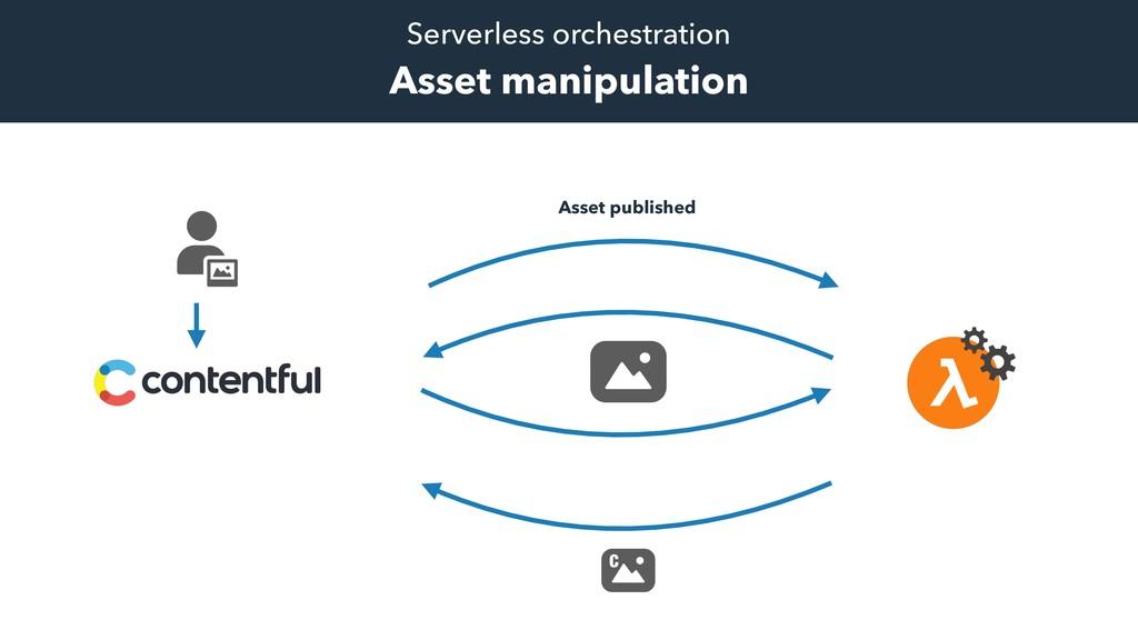 Serverless orchestration Asset manipulation C A...