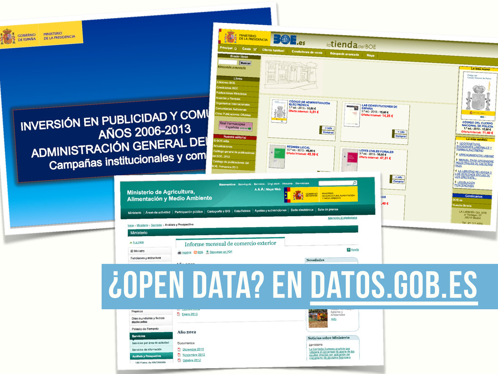 ¿open data? en datos.gob.es