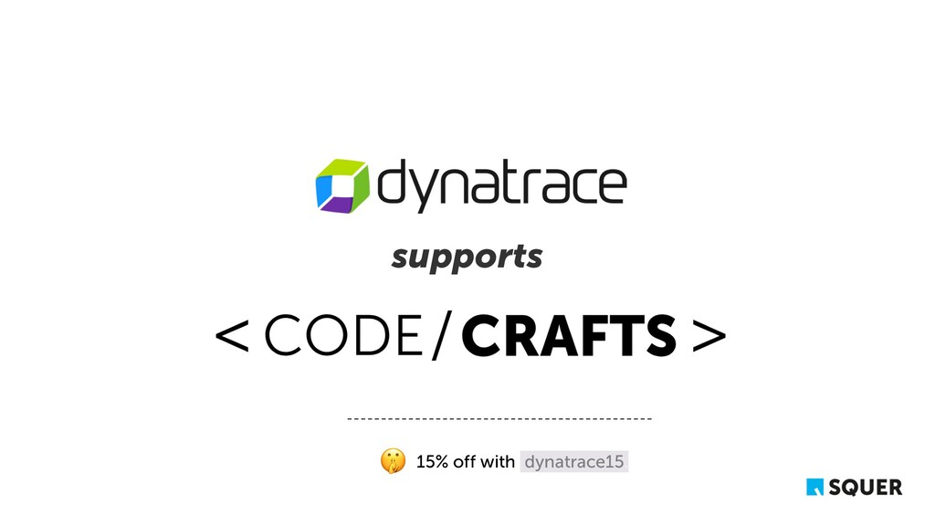 supports 15% off with dynatrace15.