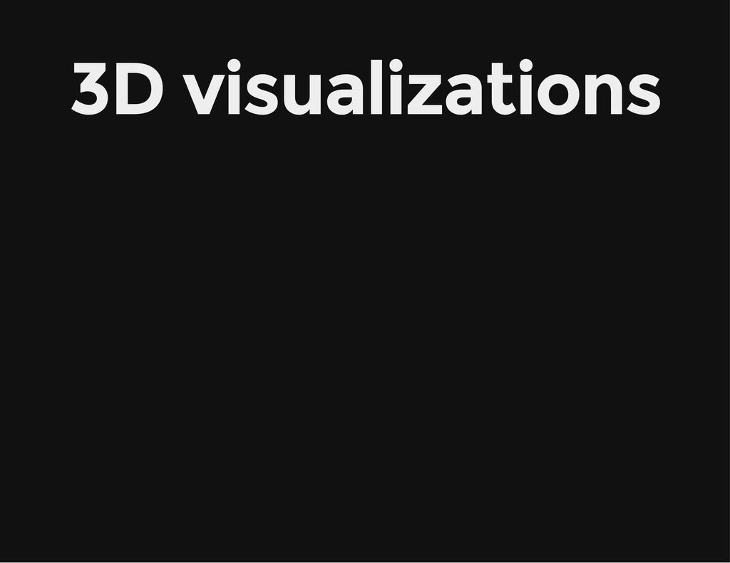 3D visualizations