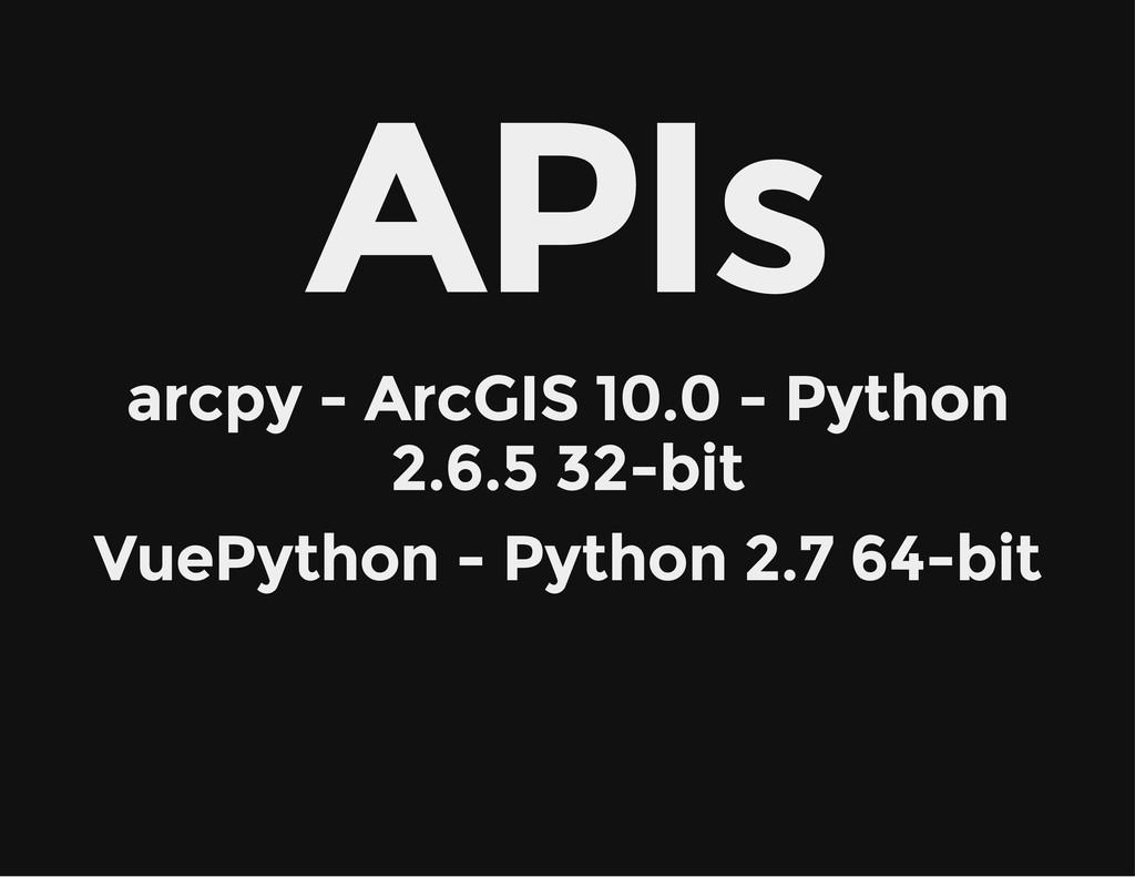 APIs arcpy - ArcGIS 10.0 - Python 2.6.5 32-bit ...