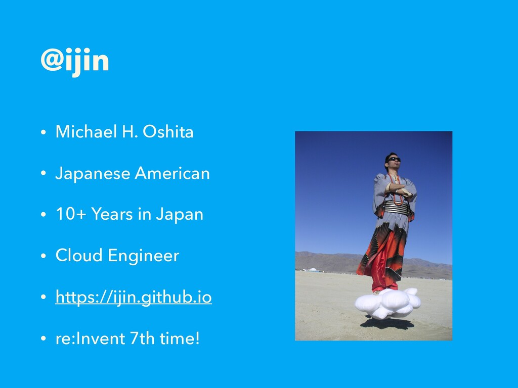 @ijin • Michael H. Oshita • Japanese American •...