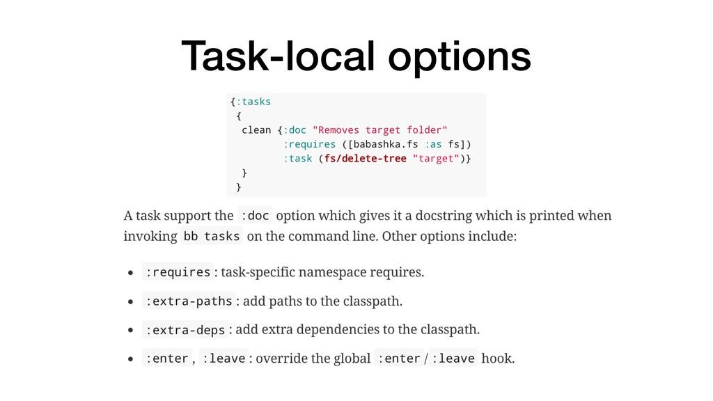 Task-local options
