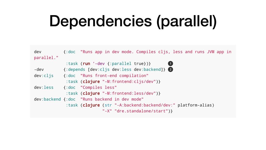 Dependencies (parallel)