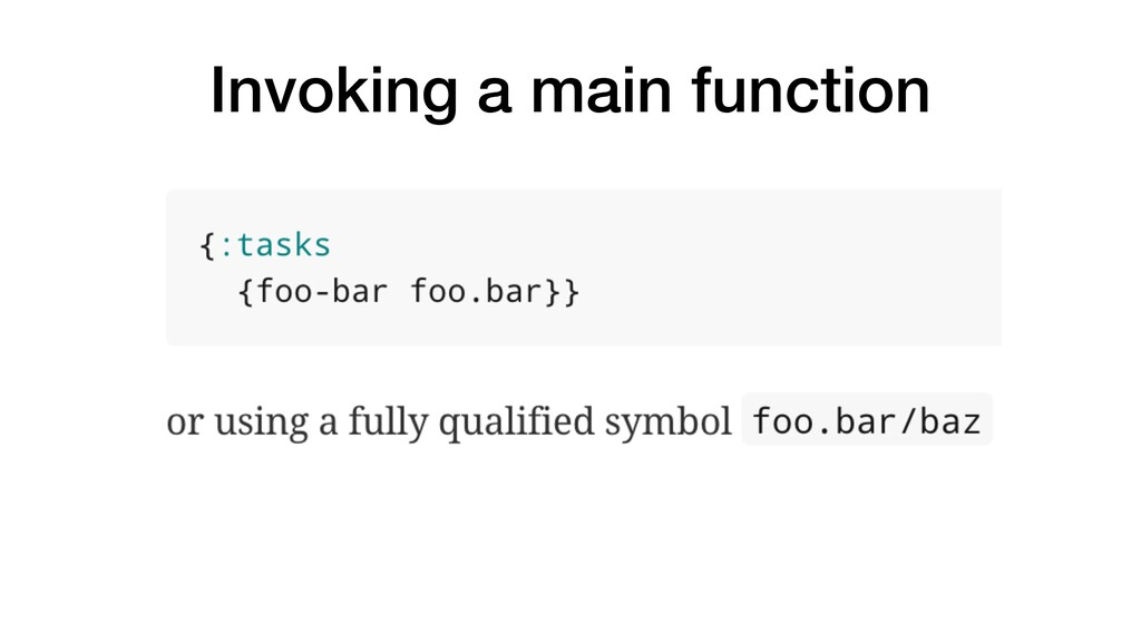 Invoking a main function