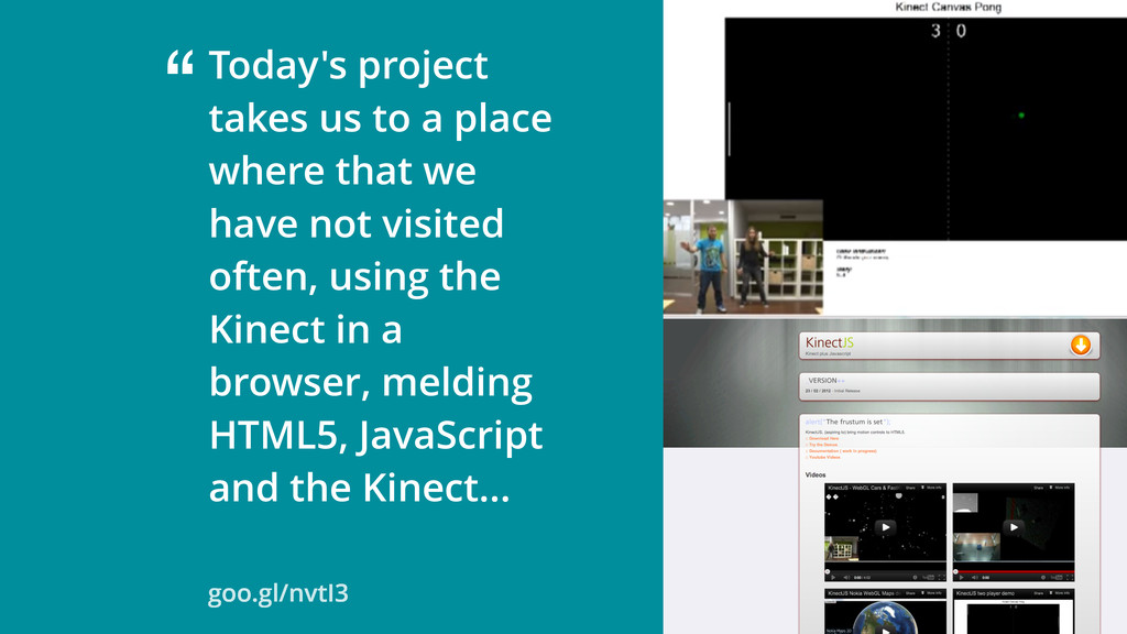 """Today's project takes us to a place where that..."