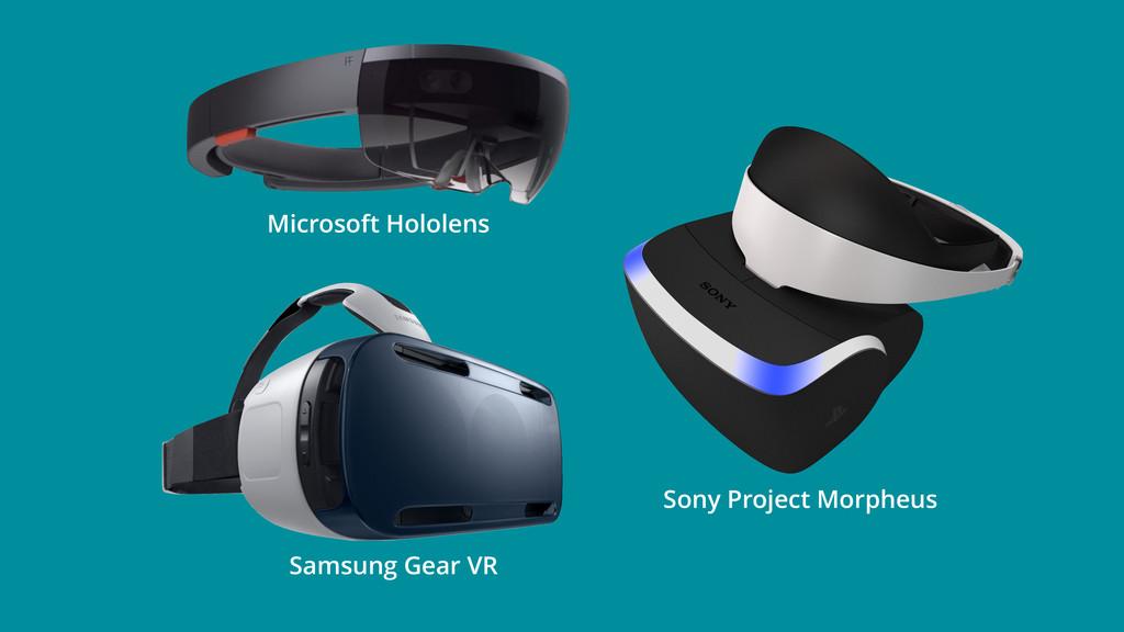 Samsung Gear VR Sony Project Morpheus Microsoft...