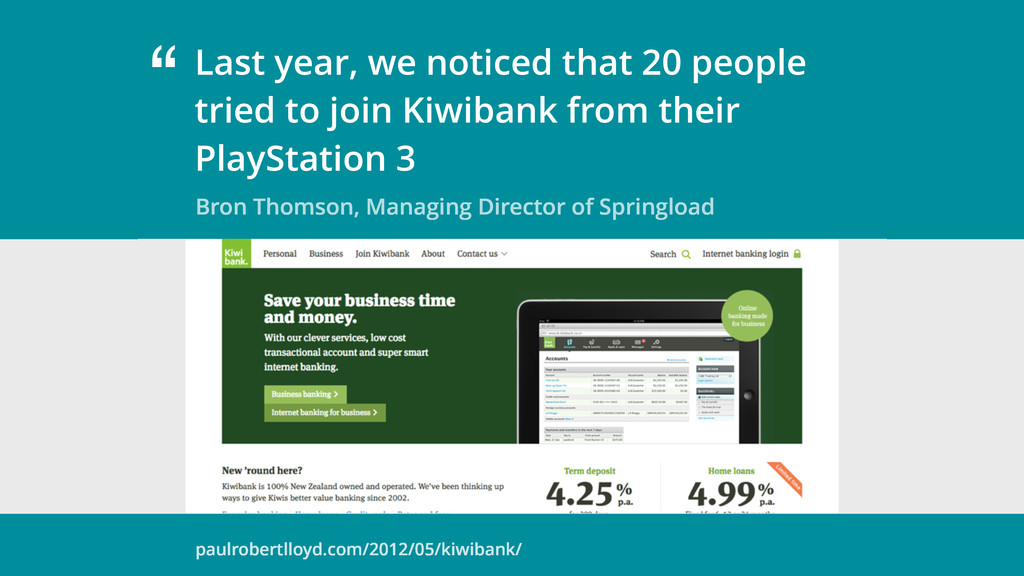 """ Bron Thomson, Managing Director of Springload..."