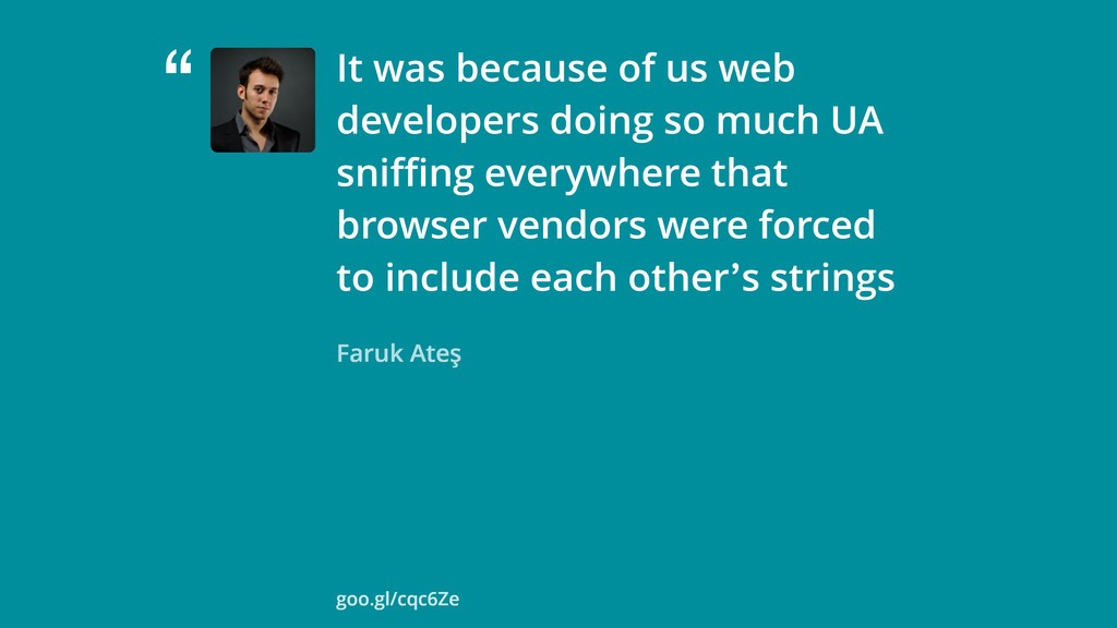 """ Faruk Ateş It was because of us web developer..."