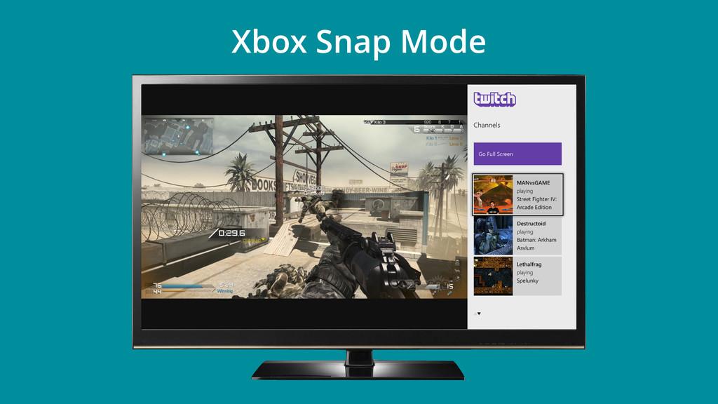 Xbox Snap Mode