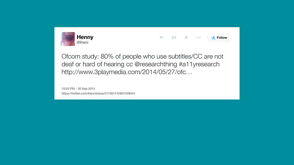 Henny @iheni 10:20 PM - 30 Sep 2014 Ofcom study...