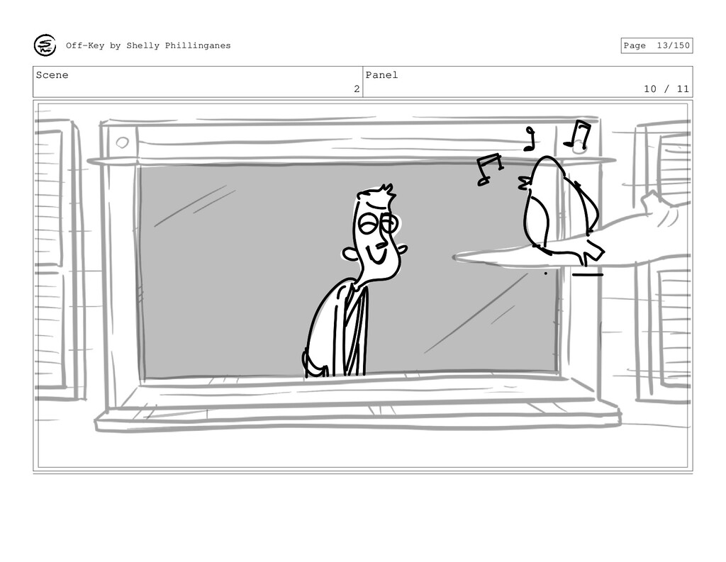 Scene 2 Panel 10 / 11 Off-Key by Shelly Phillin...