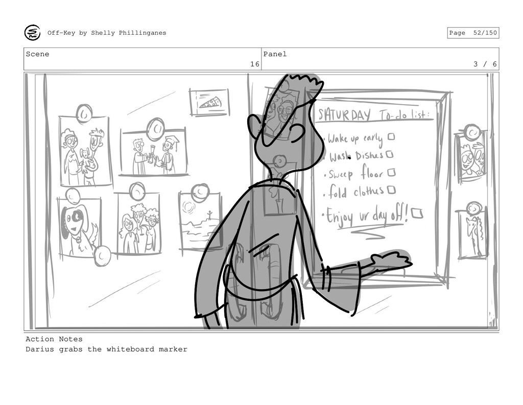 Scene 16 Panel 3 / 6 Action Notes Darius grabs ...