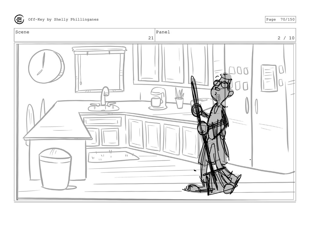 Scene 21 Panel 2 / 10 Off-Key by Shelly Phillin...