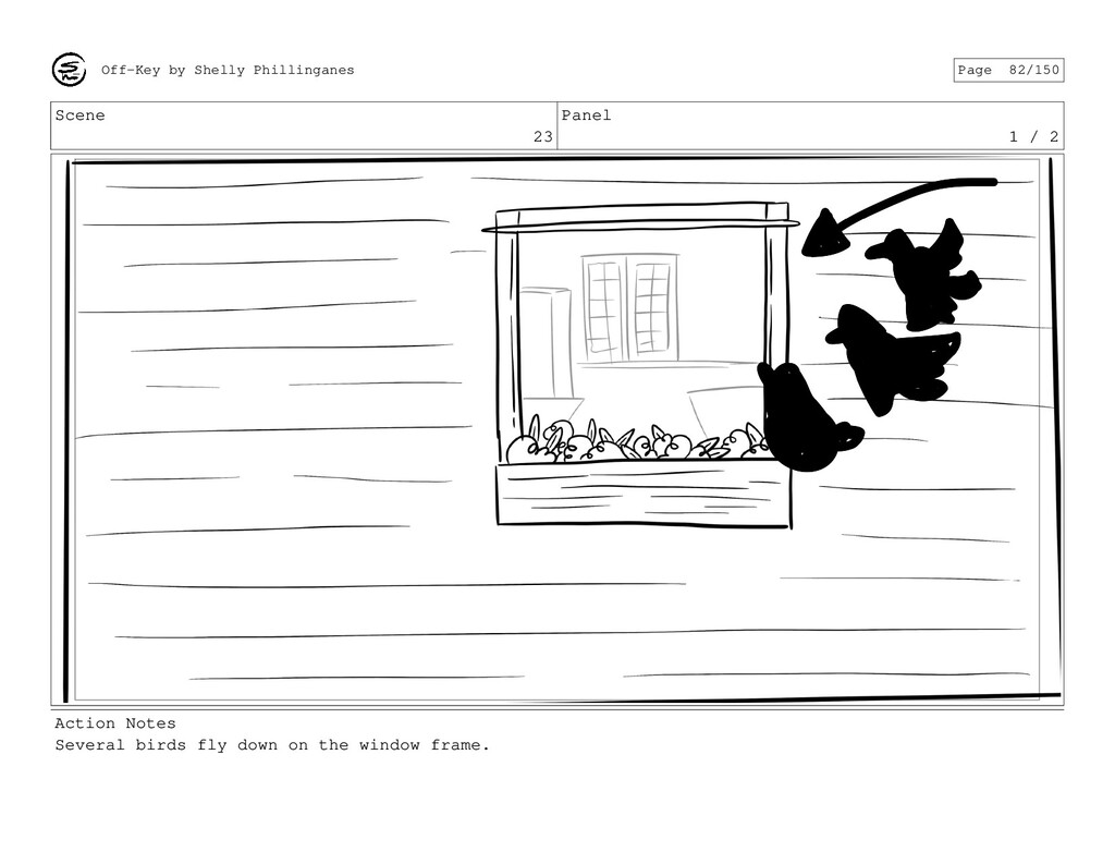 Scene 23 Panel 1 / 2 Action Notes Several birds...