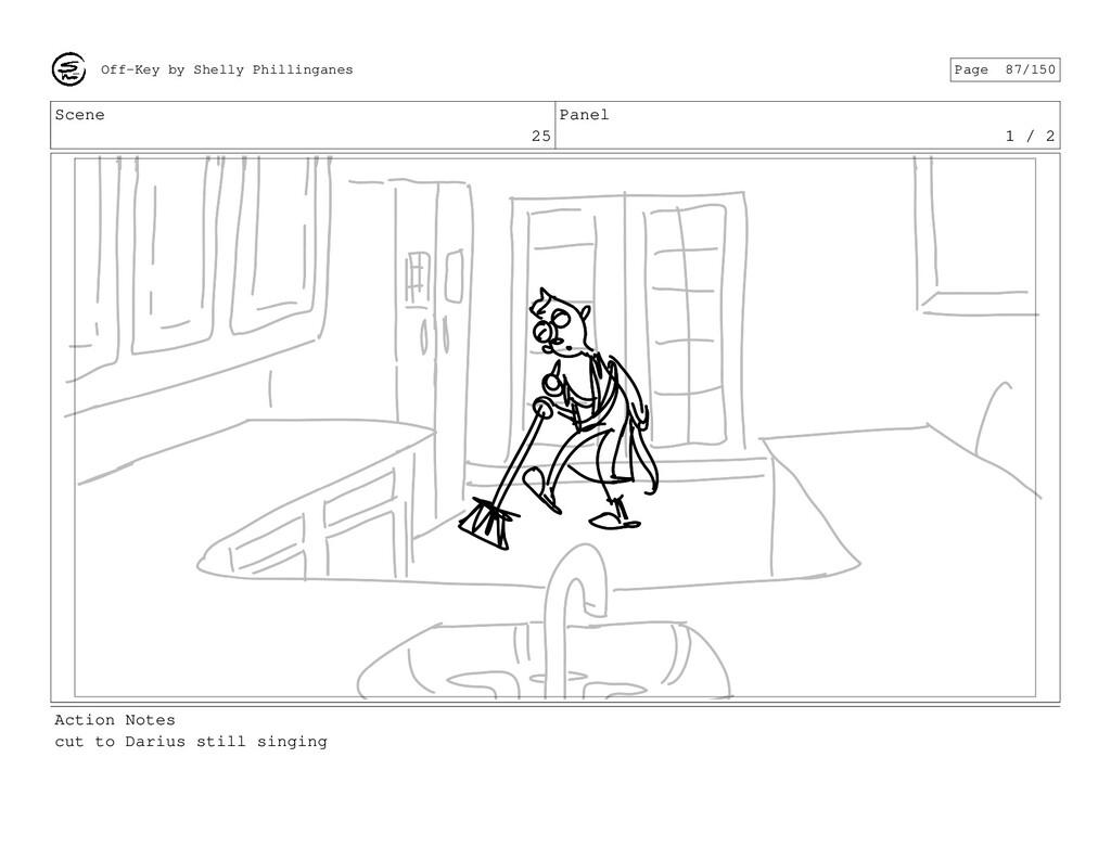 Scene 25 Panel 1 / 2 Action Notes cut to Darius...