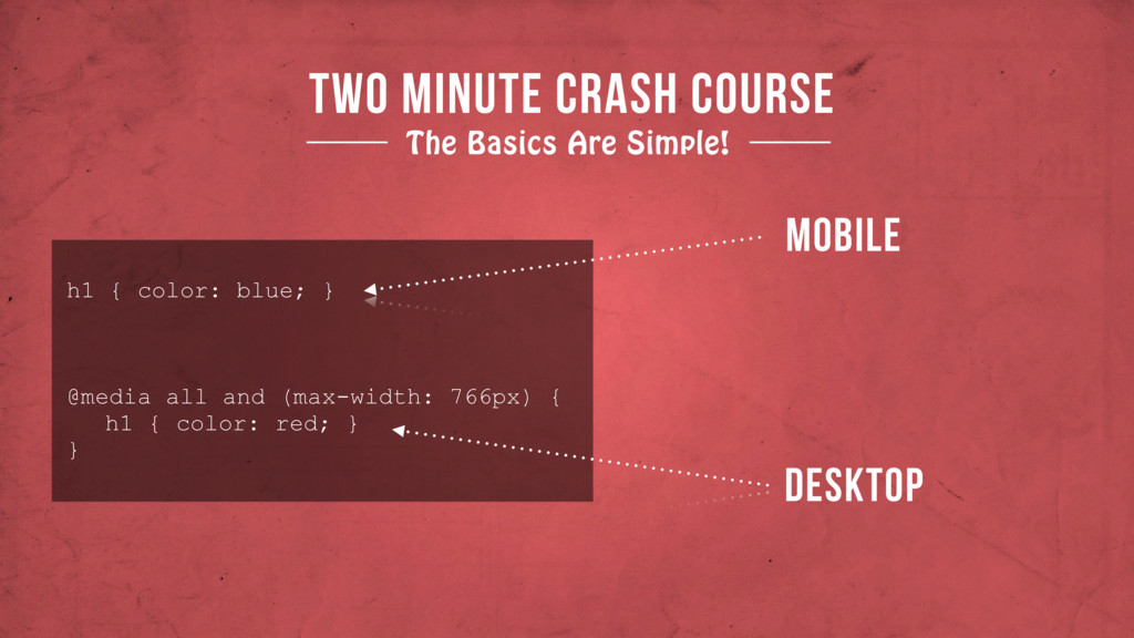 TWO MINUTE CRASH COURSE The Basics Are Simple! ...