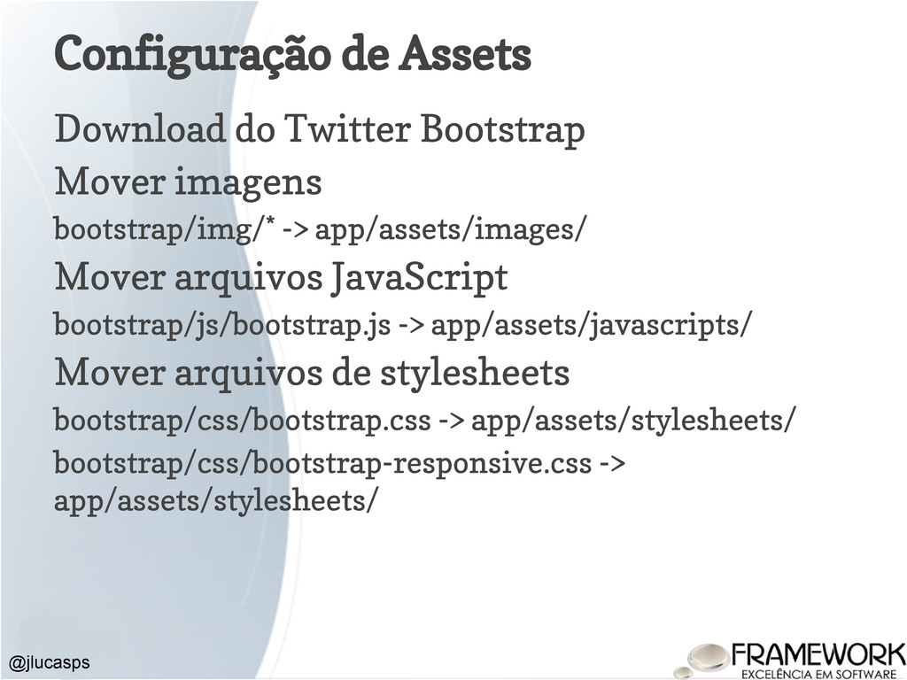 Configuração de Assets Download do Twitter Boot...