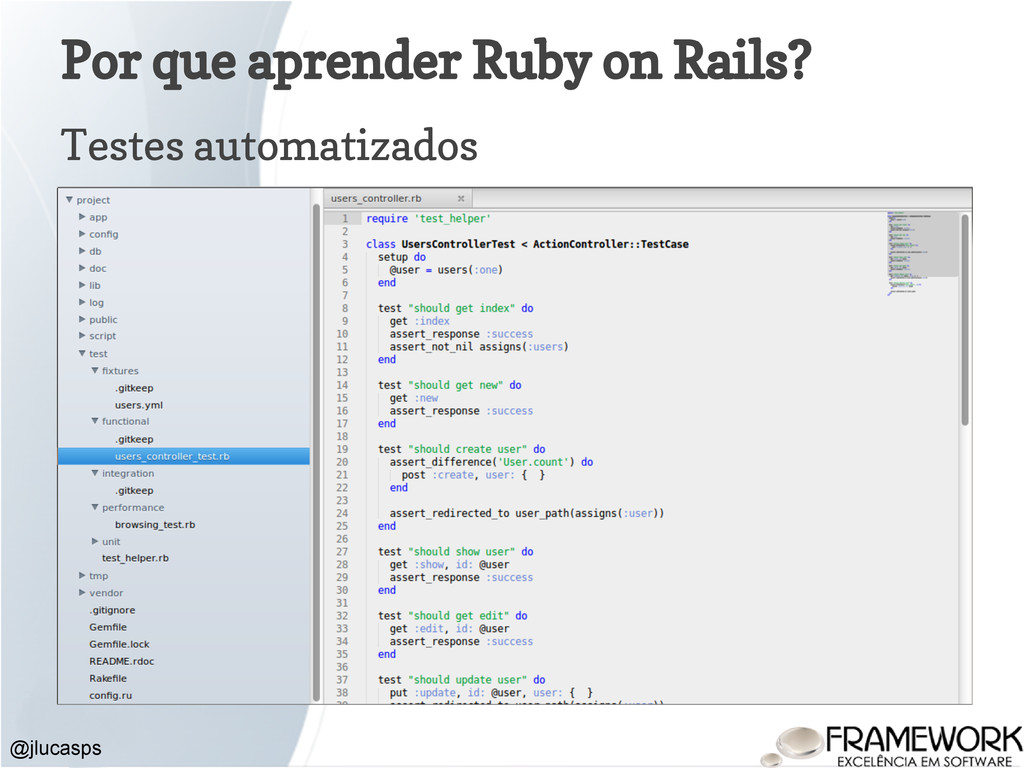 Por que aprender Ruby on Rails? Testes automati...