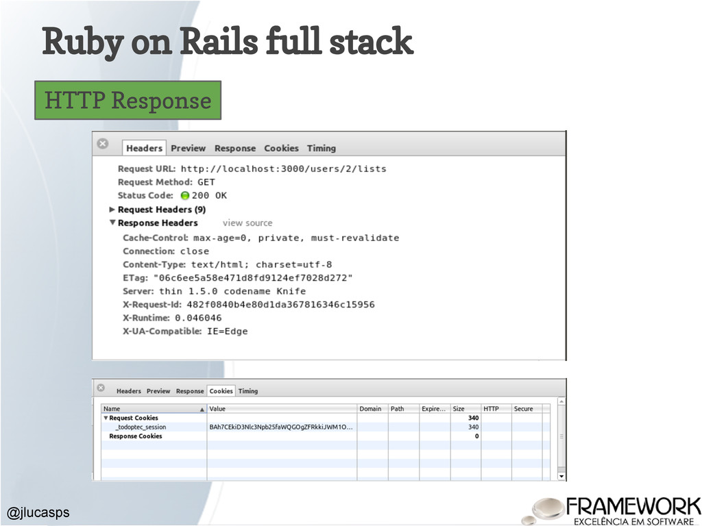 Ruby on Rails full stack @jlucasps HTTP Response
