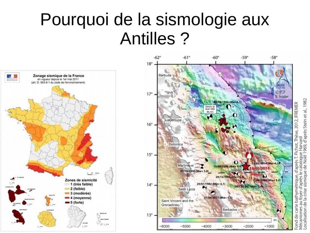 Pourquoi de la sismologie aux Antilles ?