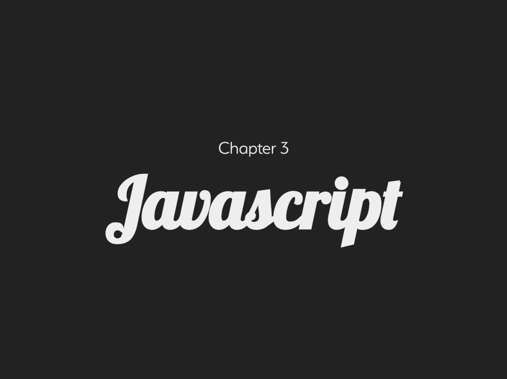 Chapter 3 Javacrip