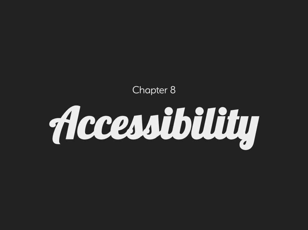 Chapter 8 Acceiilit