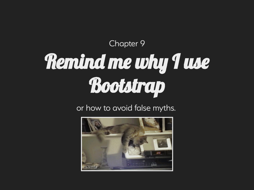 Chapter 9 or how to avoid fale mth. Remin m ...