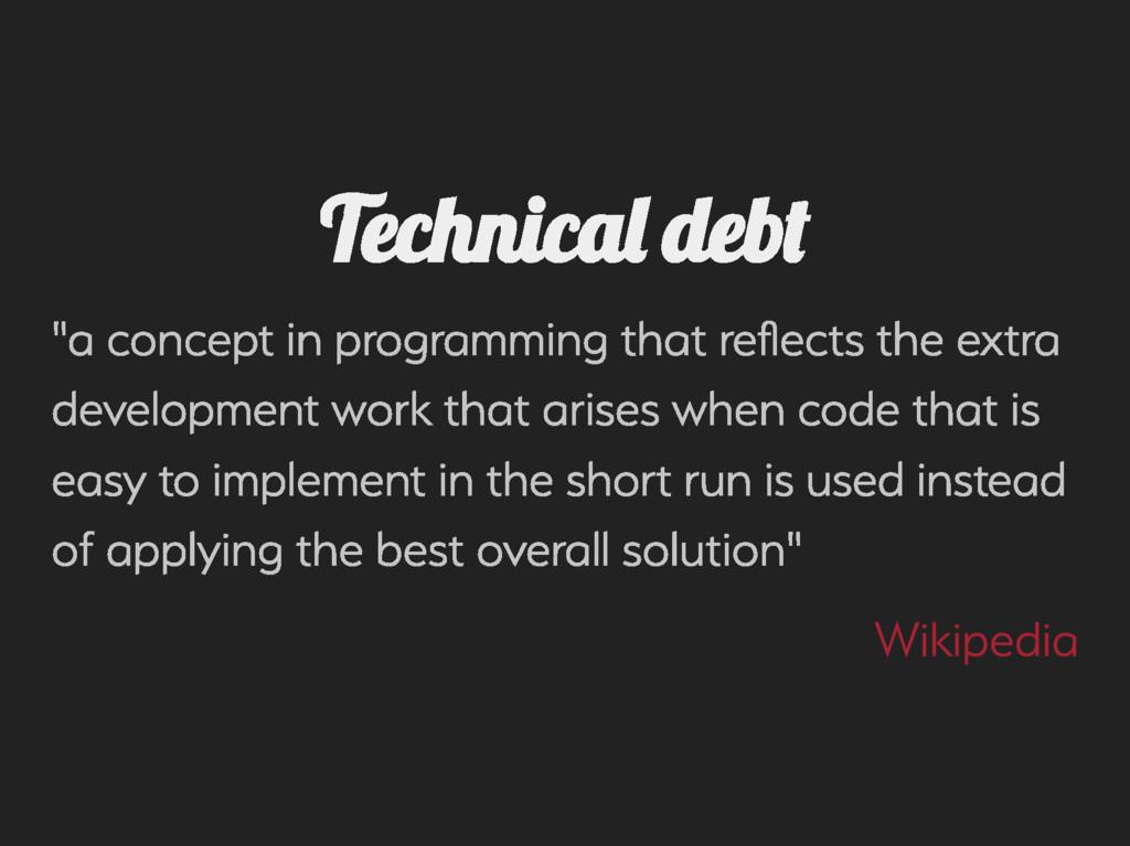 "Technica de ""a concept in programming that re ..."