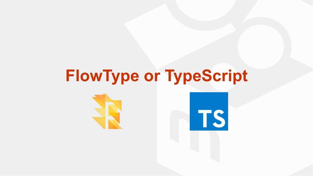 FlowType or TypeScript