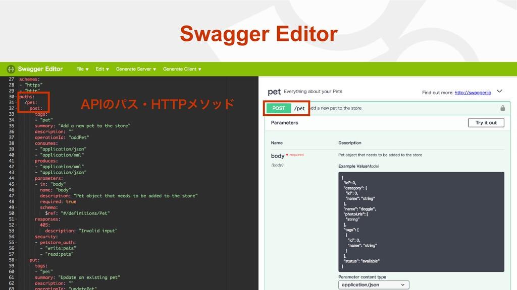 "Swagger Editor ""1*ͷύεɾ)551ϝιου"