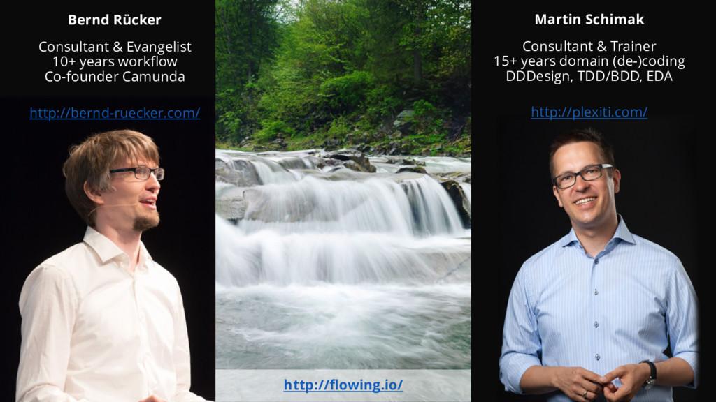 Bernd Rücker Consultant & Evangelist 10+ years ...