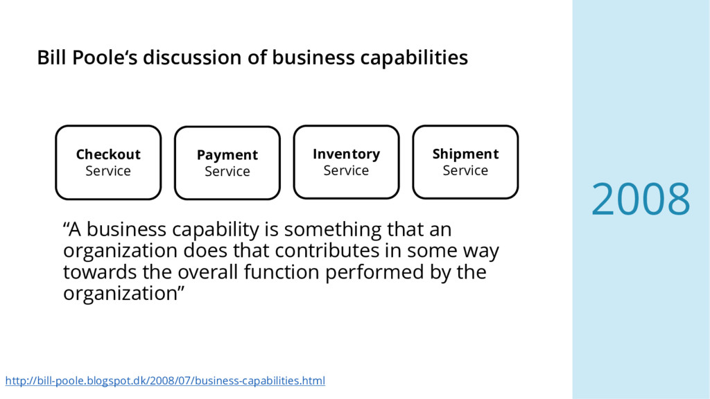 Bill Poole's discussion of business capabilitie...