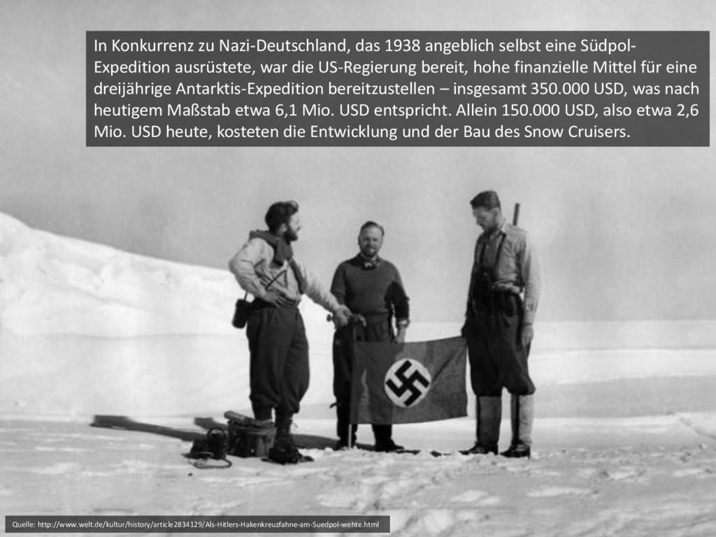 In Konkurrenz zu Nazi-Deutschland, das 1938 ang...