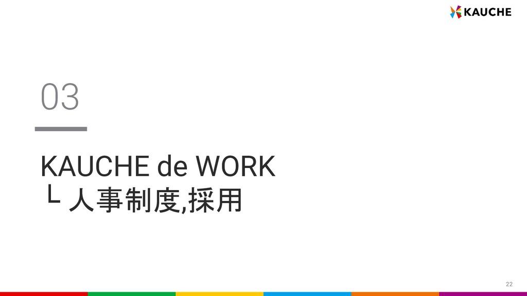 22 KAUCHE de WORK └ 人事制度,採用 03
