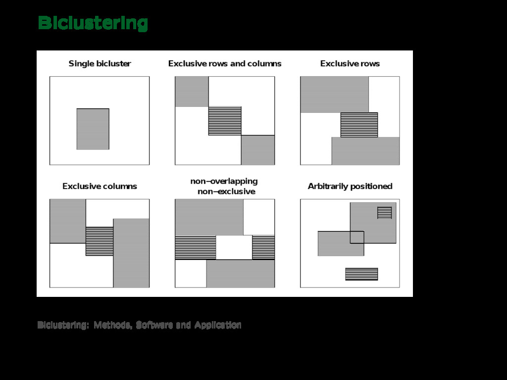Biclustering Biclustering: Methods, Software an...