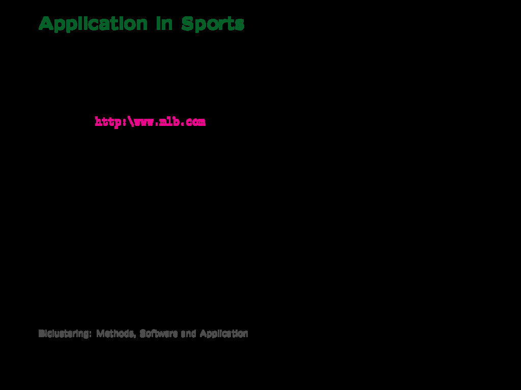 Application in Sports Major League Baseball Sou...