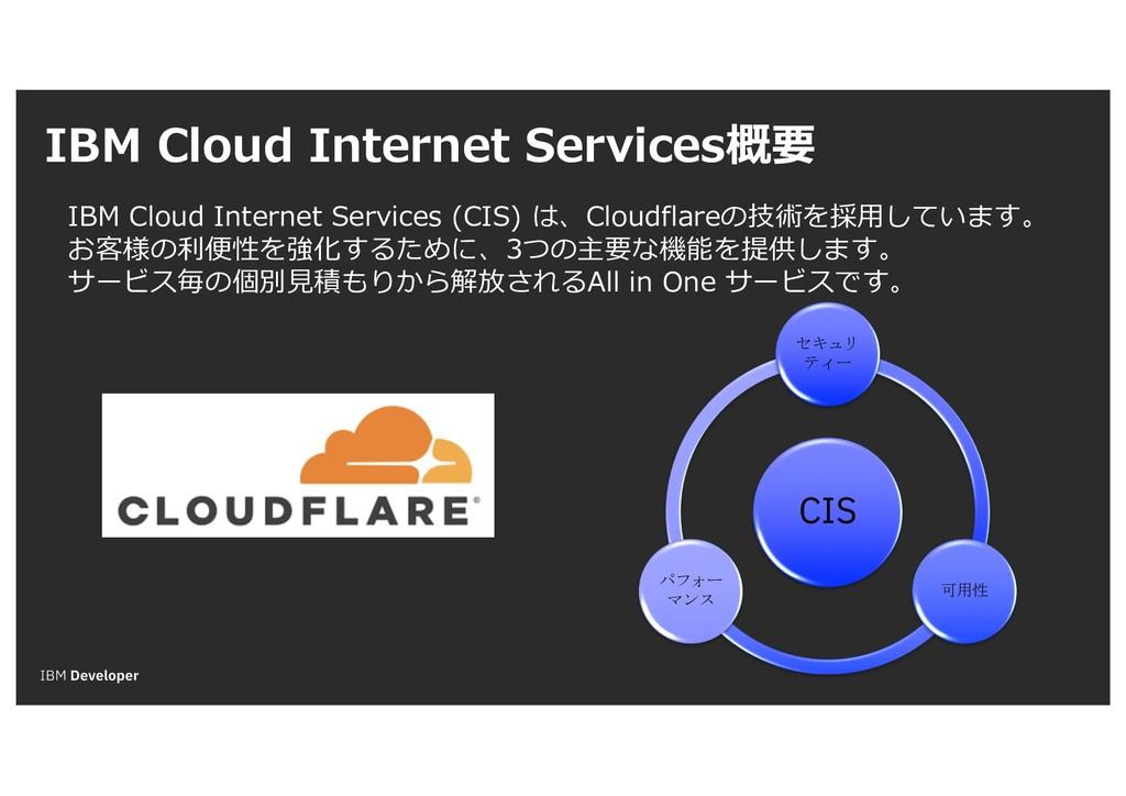 IBM Cloud Internet Services概要 IBM Cloud Interne...