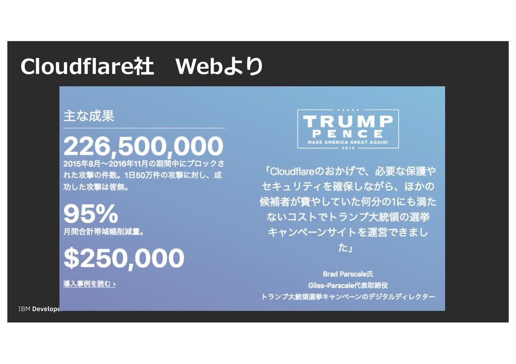 Cloudflare社 Webより