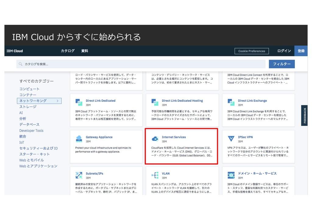 IBM Cloud からすぐに始められる IBM Cloud 2019 / © 2019 IB...