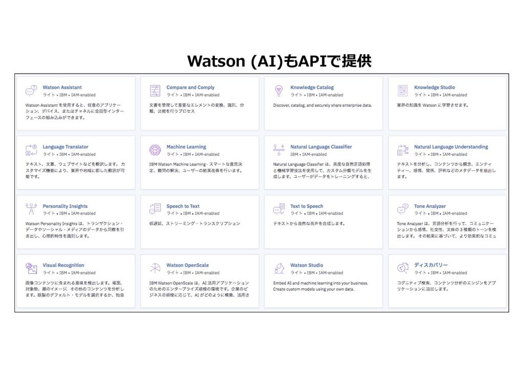 Watson (AI)もAPIで提供