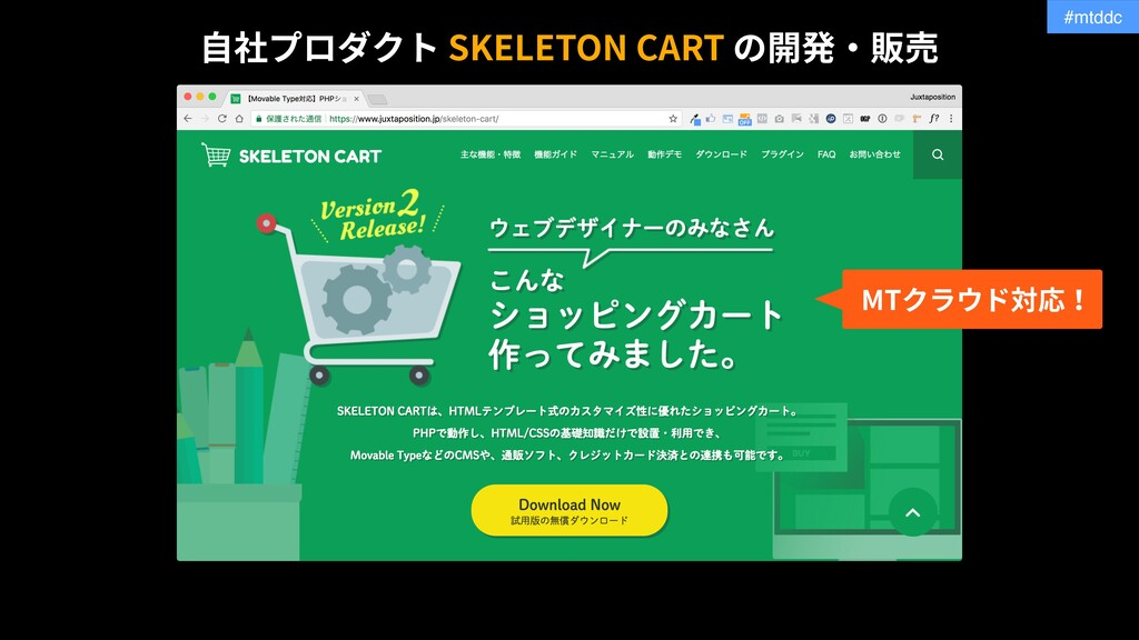 #mtddc SKELETON CART MT