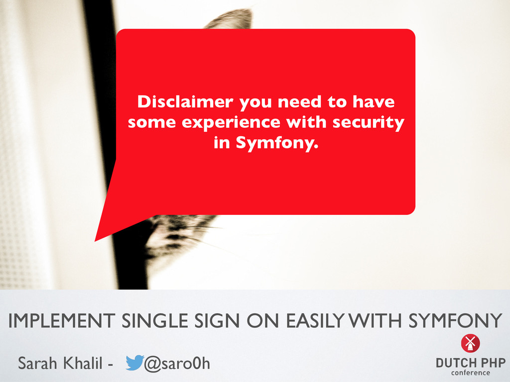 IMPLEMENT SINGLE SIGN ON EASILY WITH SYMFONY Sa...