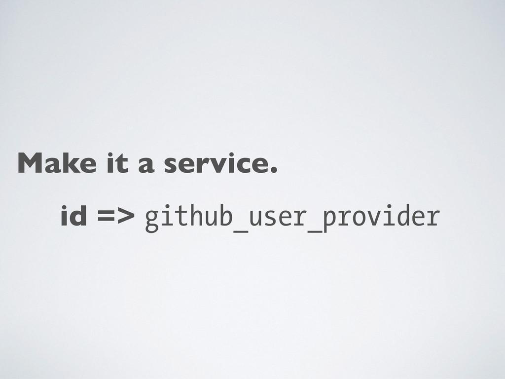 Make it a service. id => github_user_provider